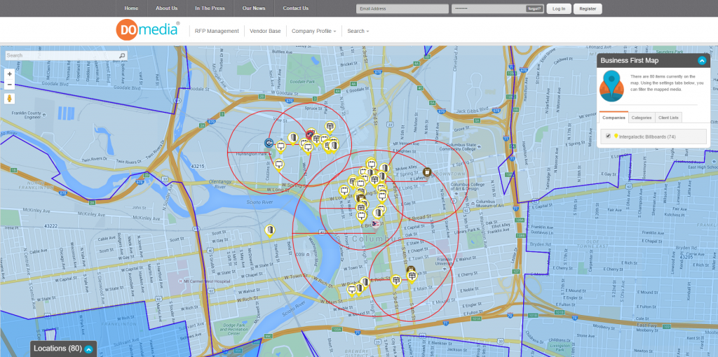 DOmedia columbus map for CBF