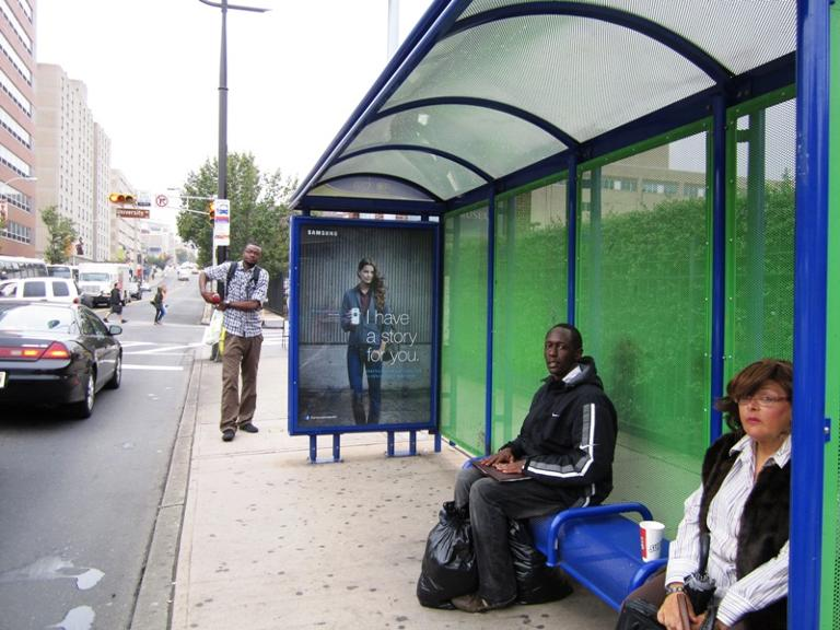 bus shelter interior