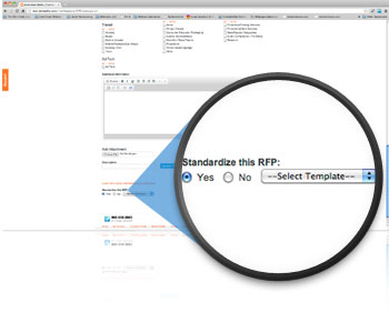 Standardize RFP in Project Brief