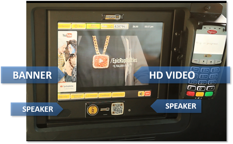 Engage the captive audience of passengers with digital screens!